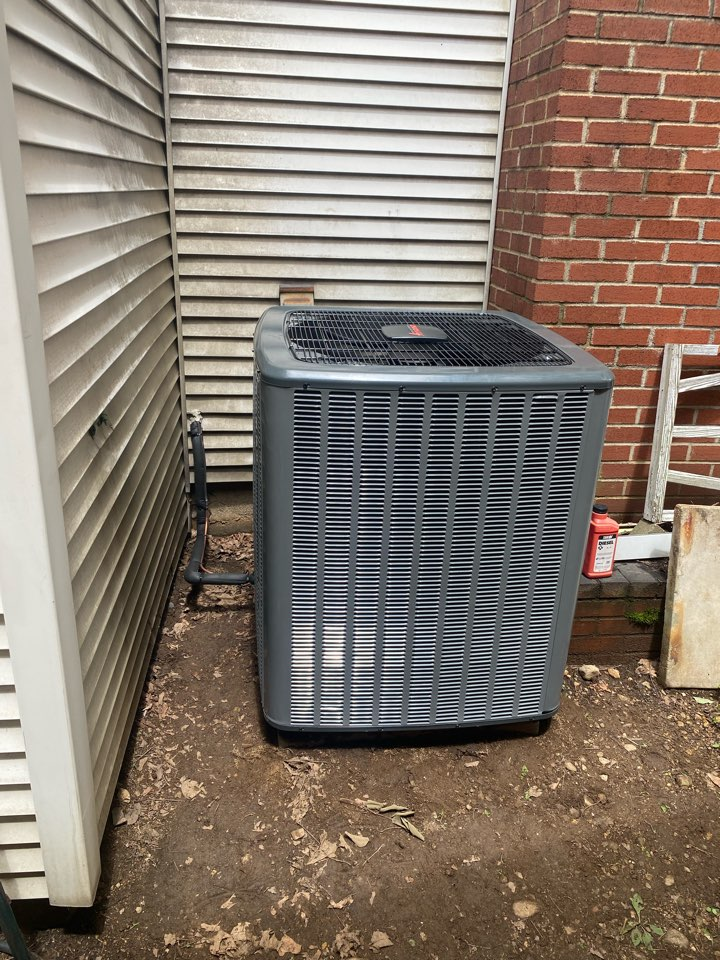 Stanhope, NJ - Installation/replacement of a Amana air handler and condenser for AC system.