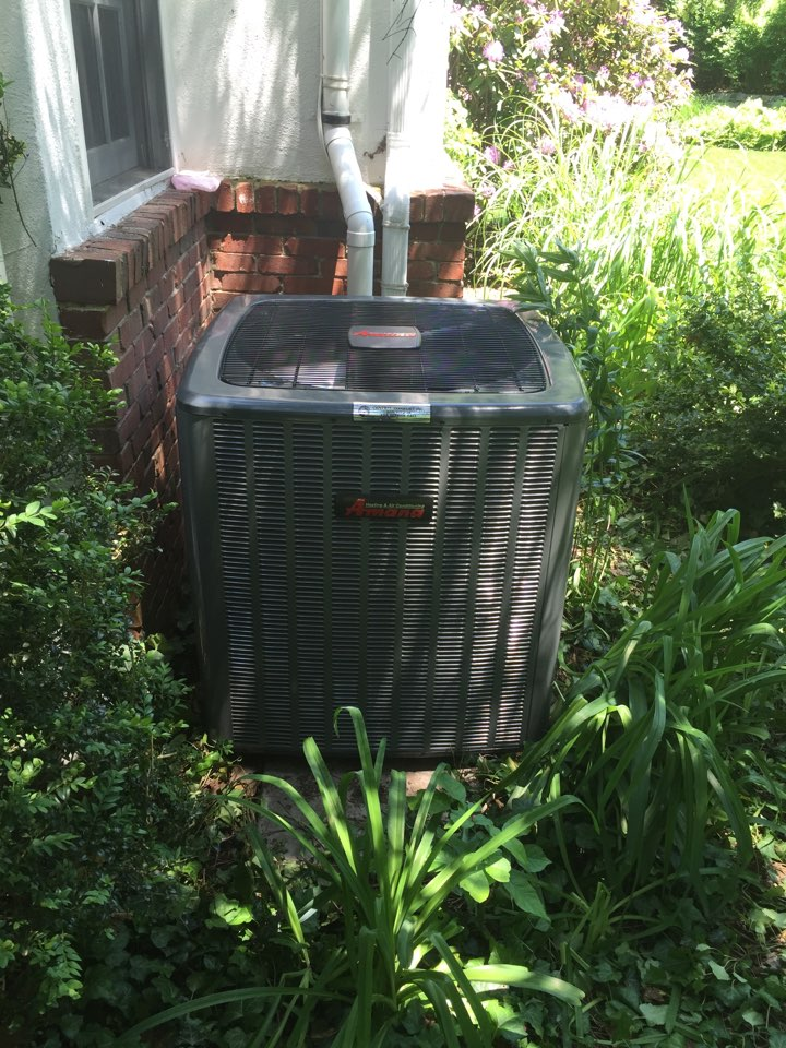 Mendham, NJ - Air conditioning replacement. Replacement of 16 seer Amana 2 stage condenser and ECM air handler.