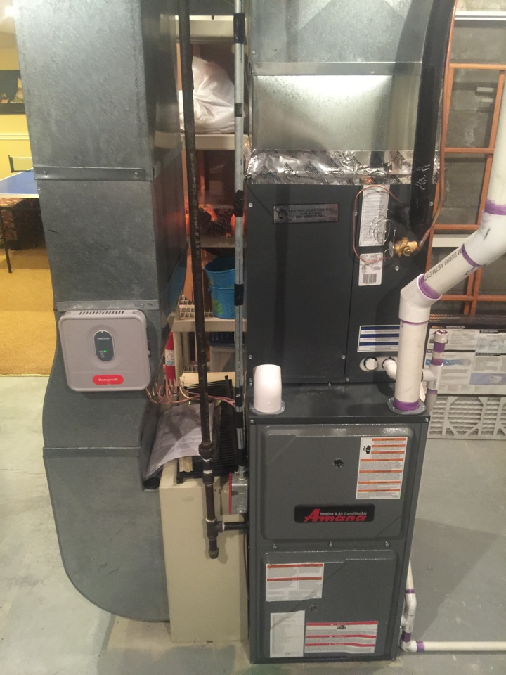 Randolph, NJ - Install Amana high efficiency two stage furnace  and two stage air conditioning system and Rheem 75 gallon water heater.