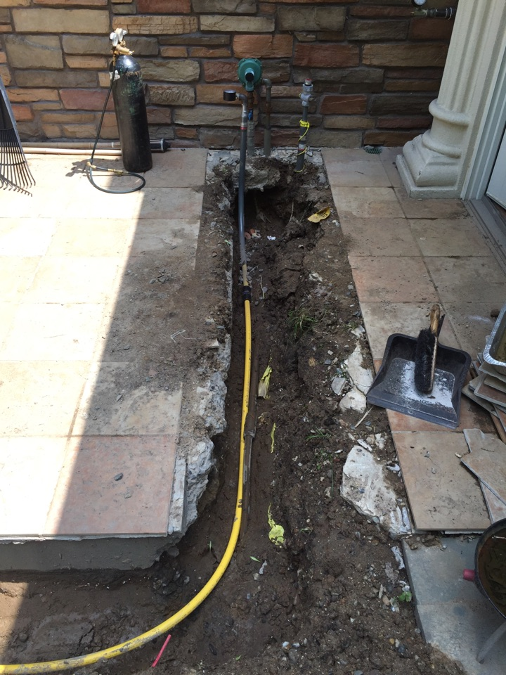 Morristown, NJ - Run underground gas pipe for LP to natural gas conversion to garage heater.
