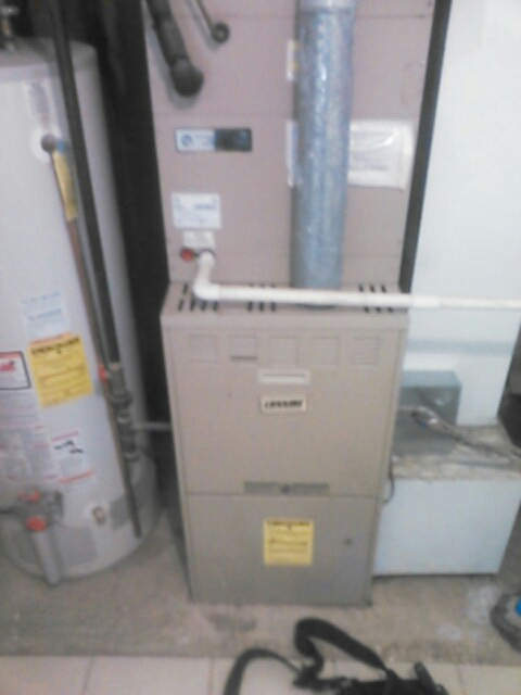 East Hanover, NJ - Service luxaire furnace and air conditioning system for service contract.