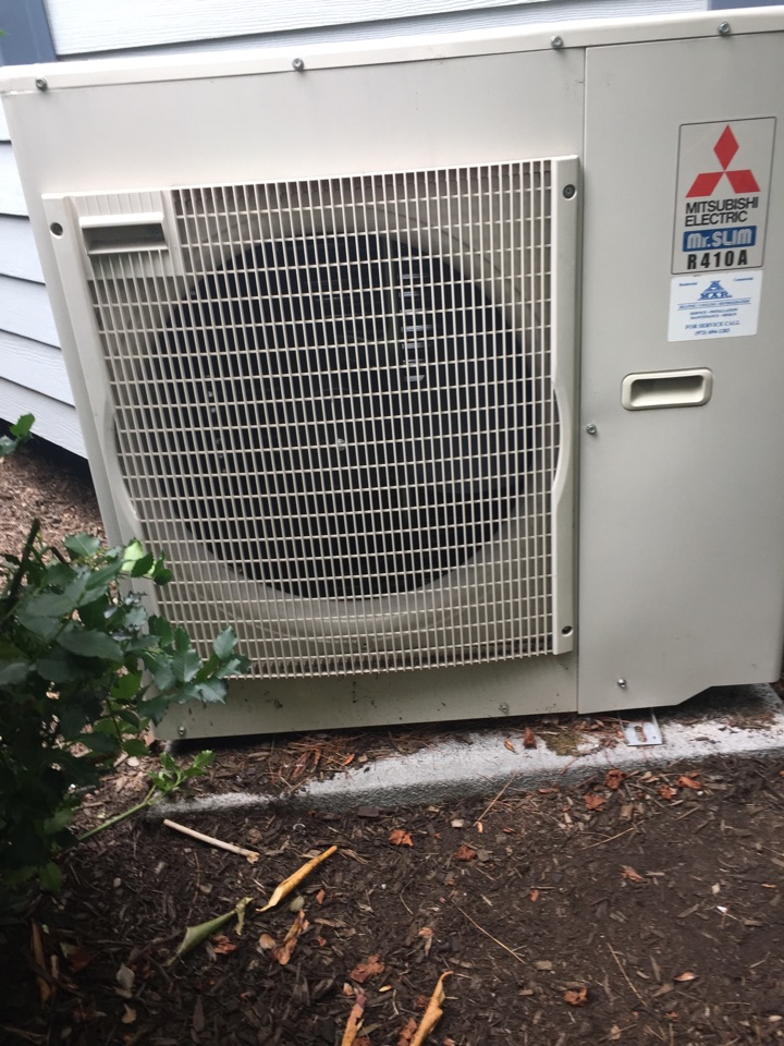Wayne, NJ - Air Conditioning service call.  Mitsubushi ductless mini split units not working.  Found unit low on refrigerant.