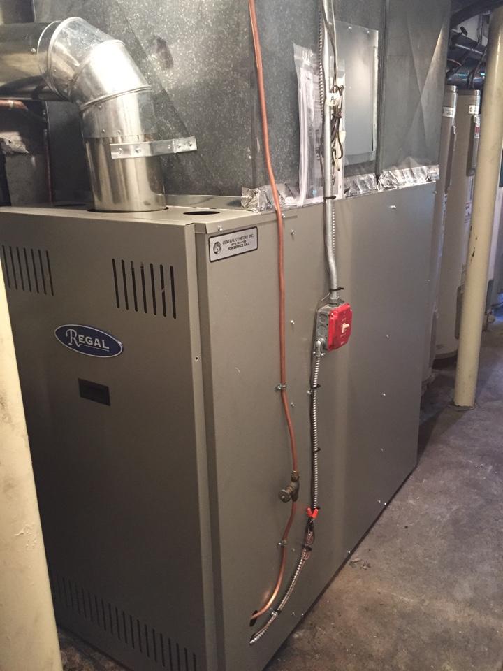 Randolph, NJ - Furnace install