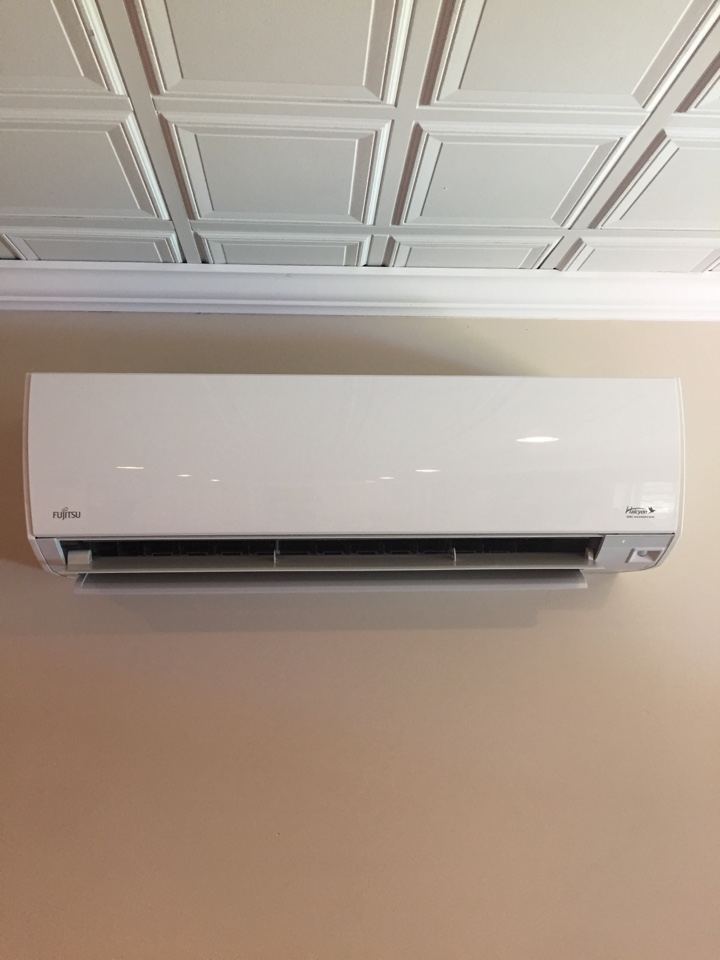 Stanhope, NJ - Air Conditioning installation.  Installation of a ductless split Fujitsu mini split ac unit.