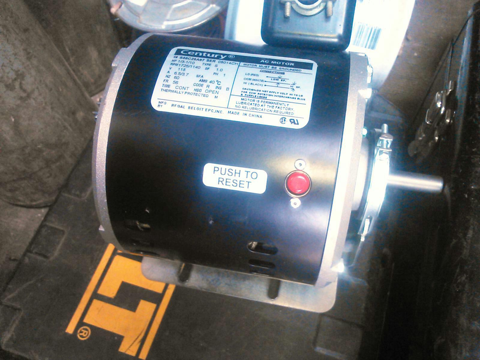 Replace attic fan motor