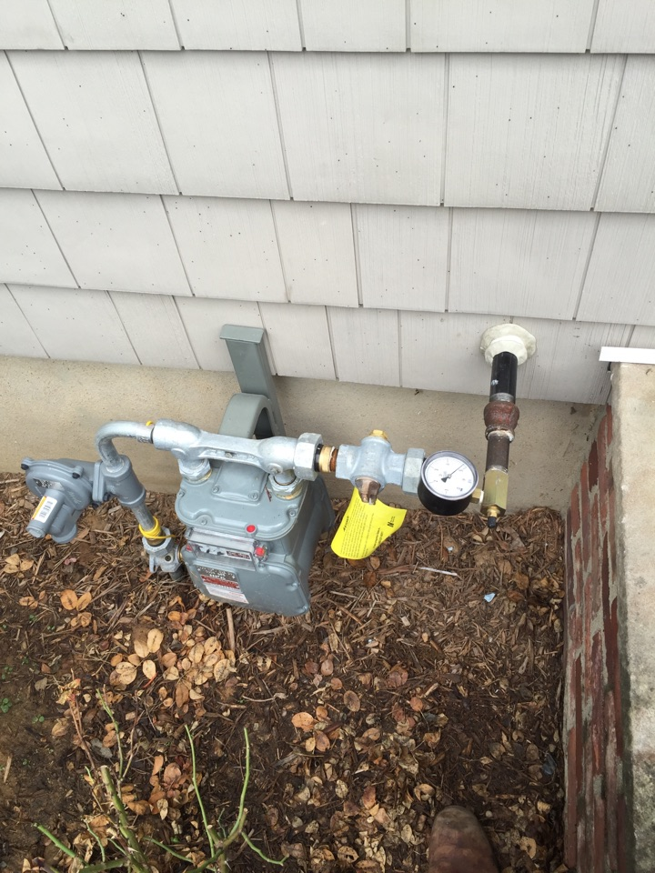 Mine Hill Township, NJ - Convert from oil to gas. Run natural gas pipe for oil to gas conversion of high efficiency boiler and indirect hot water heater.