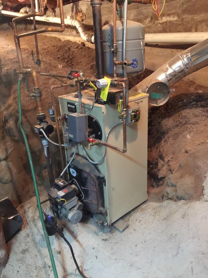 Repair air vent and bleed air from system loop