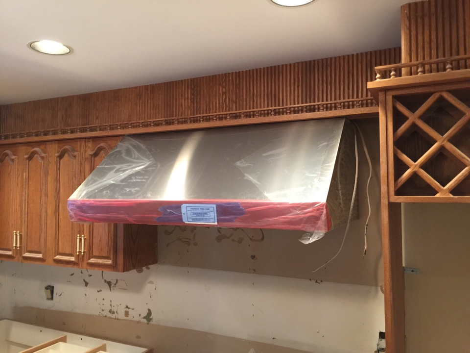 Hanover, NJ - Install wolf hood vent for wolf stove