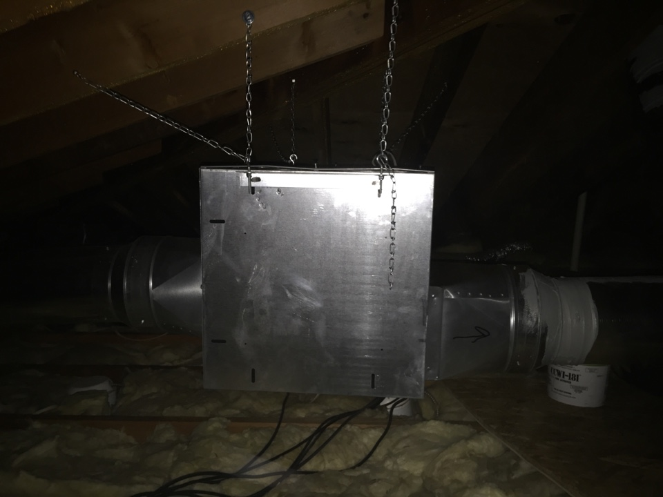 Denville, NJ - Install power vent fan for stove hood