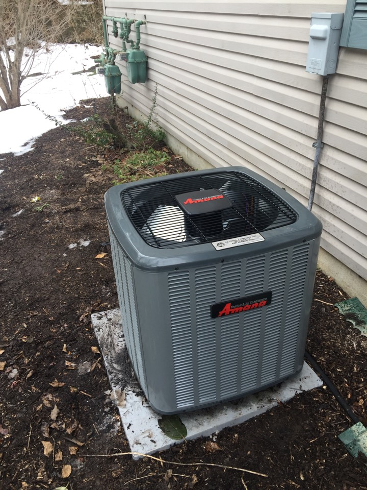 Morristown, NJ - Install Amana AC condenser
