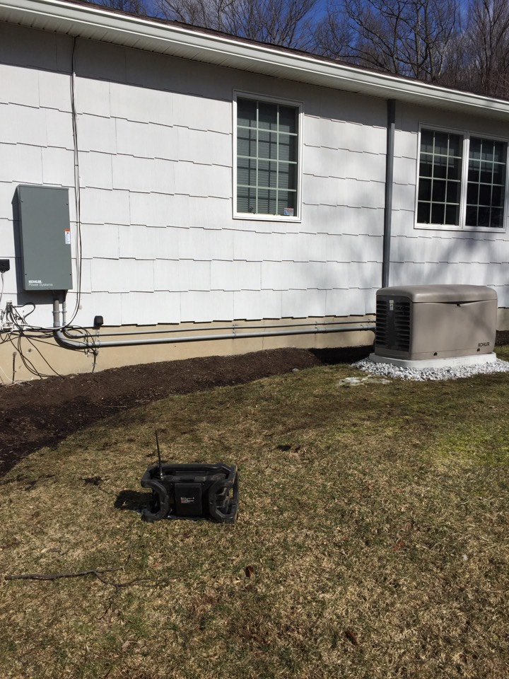 Denville, NJ - Installation of a Kohler automatic home back up generator.