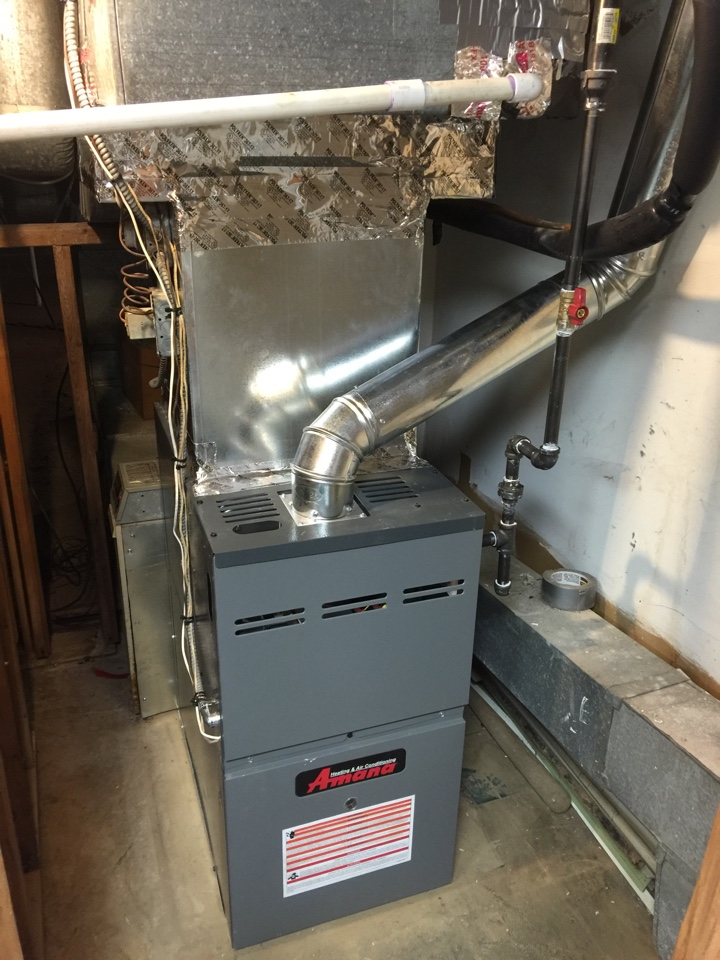 Dover, NJ - Install Amana forced hot air furnace