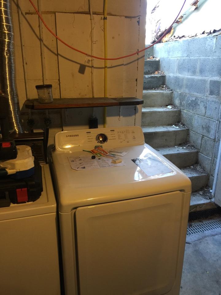 Mine Hill Township, NJ - Run gas line for Samsung Gas Dryer