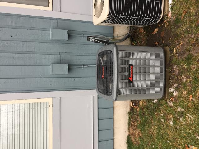 Roxbury Township, NJ - Heating service call.  No heat.  Found cracked heat exchanger.  Installation/Replace of an Amana 2-stage warm air furnace and air conditioning system.