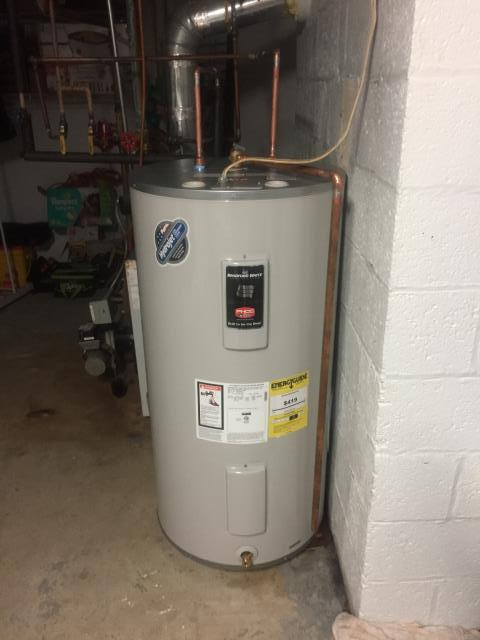Dover, NJ - Installation/replacement of a Bradford and White 50 gallon electric hot water heater.