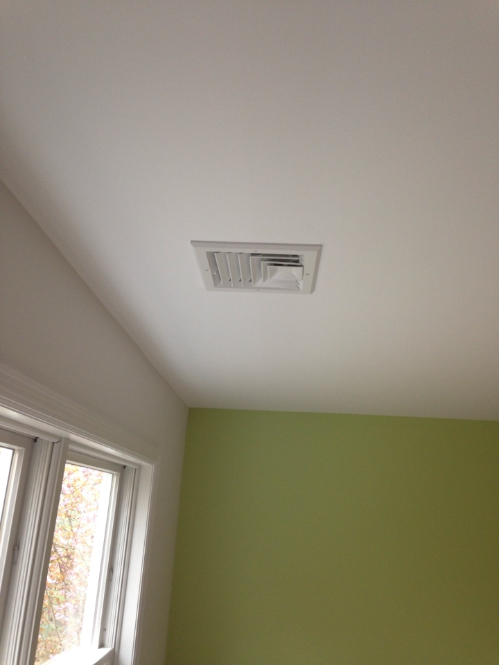 Boonton Township, NJ - Install register and grilles for new air conditioning installation.