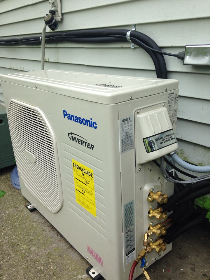 Vernon Township, NJ - Install a Panasonic heat pump air conditioning 3 indoor unit 1 outdoor unit.