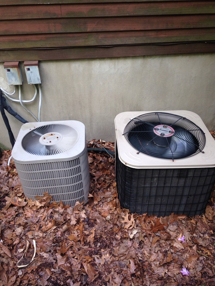 Chester, NJ - Air conditioning service on 2 ac systems.