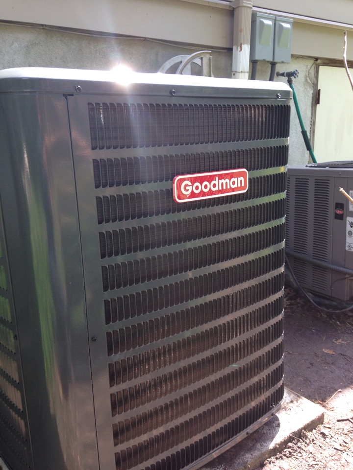 Mountain Lakes, NJ - Air conditioning repair on a Weather King ac unit. Replace ac unit with a Goodman air conditioning unit.