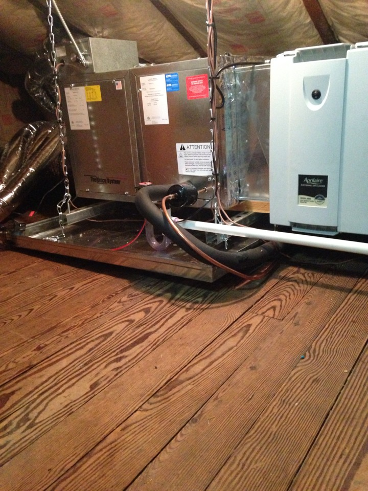 Montclair, NJ - Air conditioning repair on a high velocity ac system.