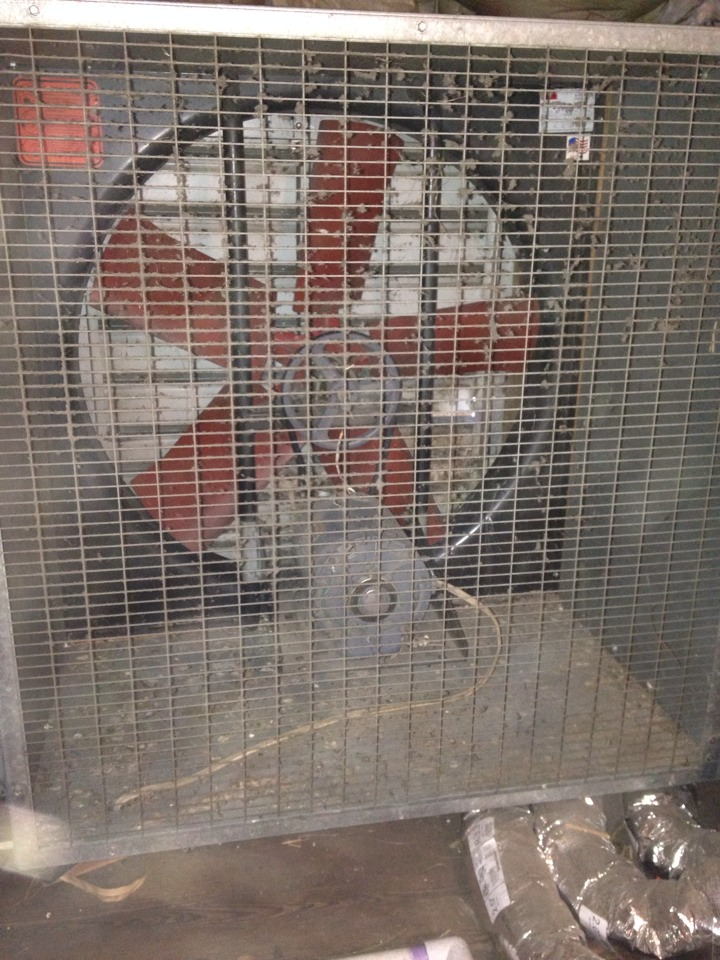 Montclair, NJ - Whole house fan repair. Replace belt and timer.
