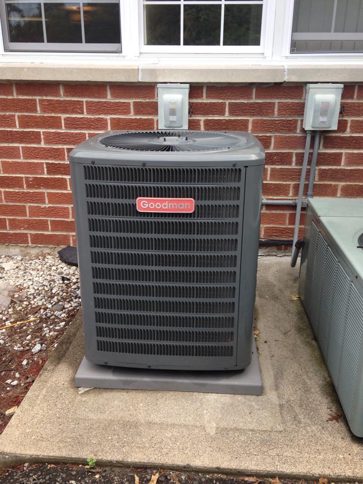 Wayne, NJ - Air conditioning service on a Goodman ac unit.