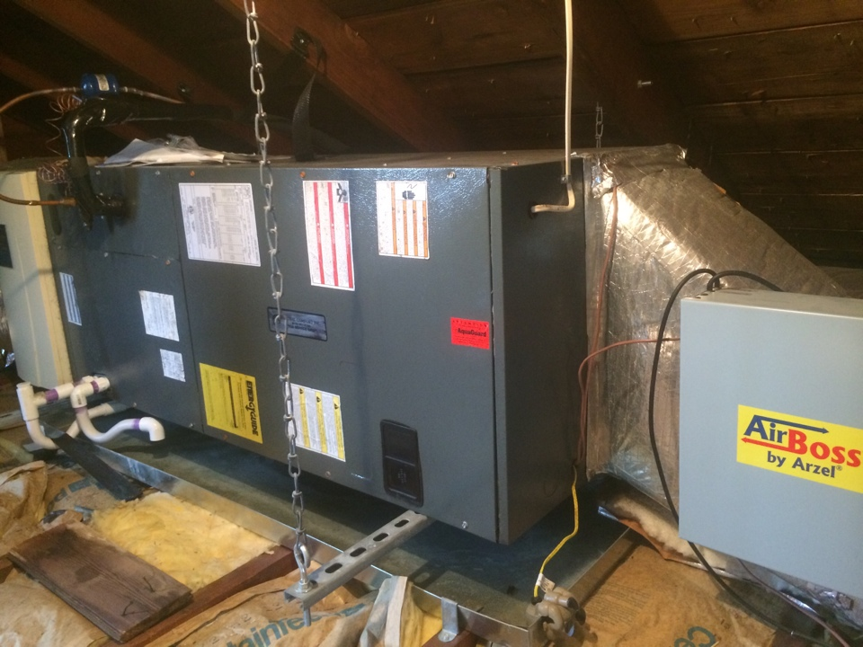 Morris Plains, NJ - Install new evaporator coil on a Amana air conditioning unit.