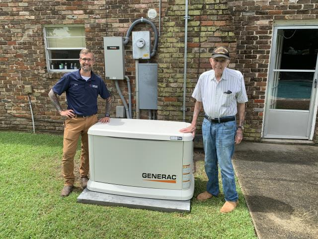New Orleans, LA - Installation of new GENERAC 22 KW air-cooled home standby generator.