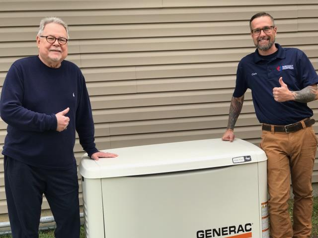 Covington, LA - Installation of new GENERAC 22 KW air-cooled generator.