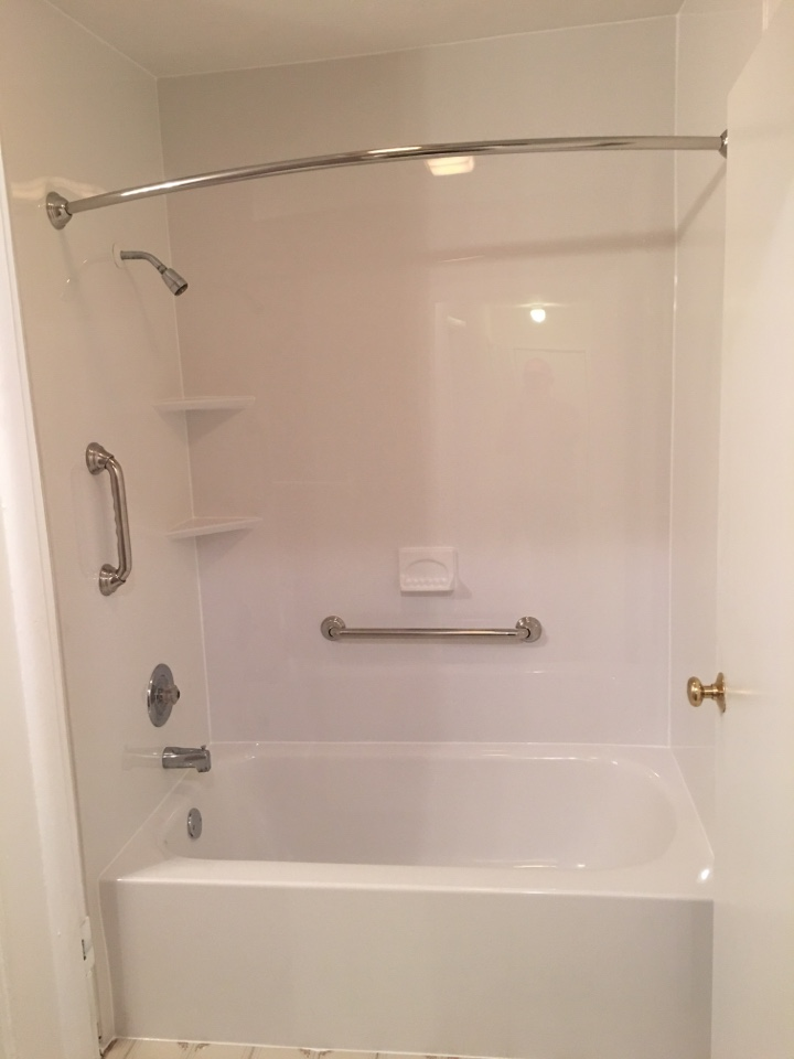 Portland, MI - Finished bathtub with white smith walls