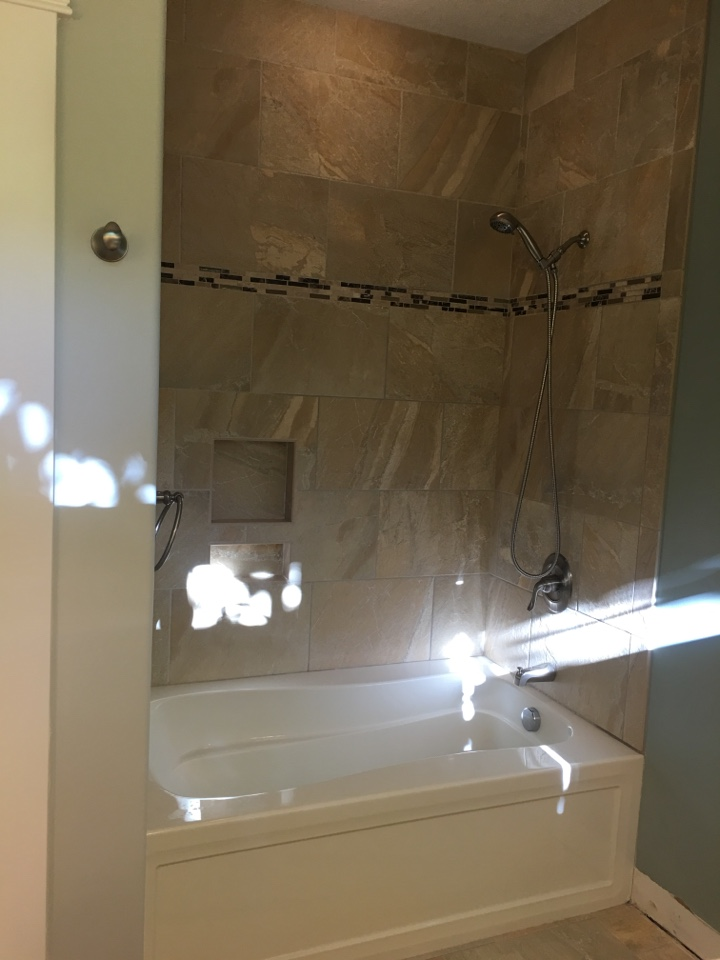 Traverse City, MI - Tub-to-shower conversion before