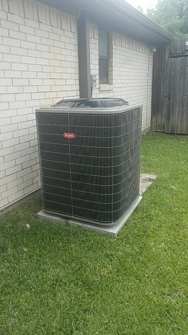 Garland, TX - Installing a new Bryant air conditioner and coil for our new customer David, at his home in Garland, TX.