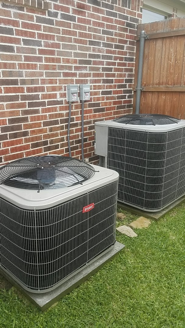 Murphy, TX -  Performing an ac tune up for our customer, Mr. F, on his 3 Bryant air conditioning systems at his home in Murphy.