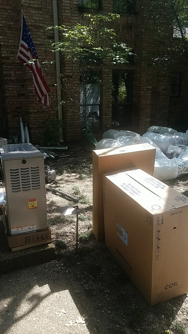 Dallas, TX - Installing 3 new Bryant HVAC systems for Mr. & Mrs. H, at their home in Dallas, TX.