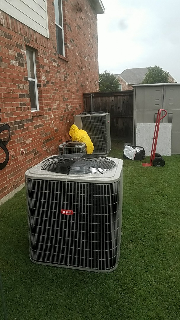 Richardson, TX - Installing 2 new Bryant HVAC systems for our good friend Michael, at his home in Richardson.