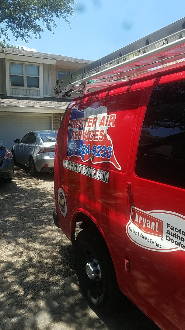 Carrollton, TX - Performing an a.c. tune up on two York air conditioning systems for our customer at her home in Carrollton.
