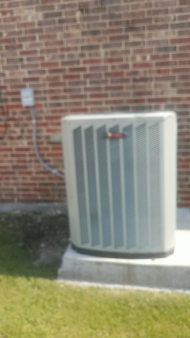Allen, TX - Performing an air conditioning repair on a Trane HVAC system for a customer in Allen.