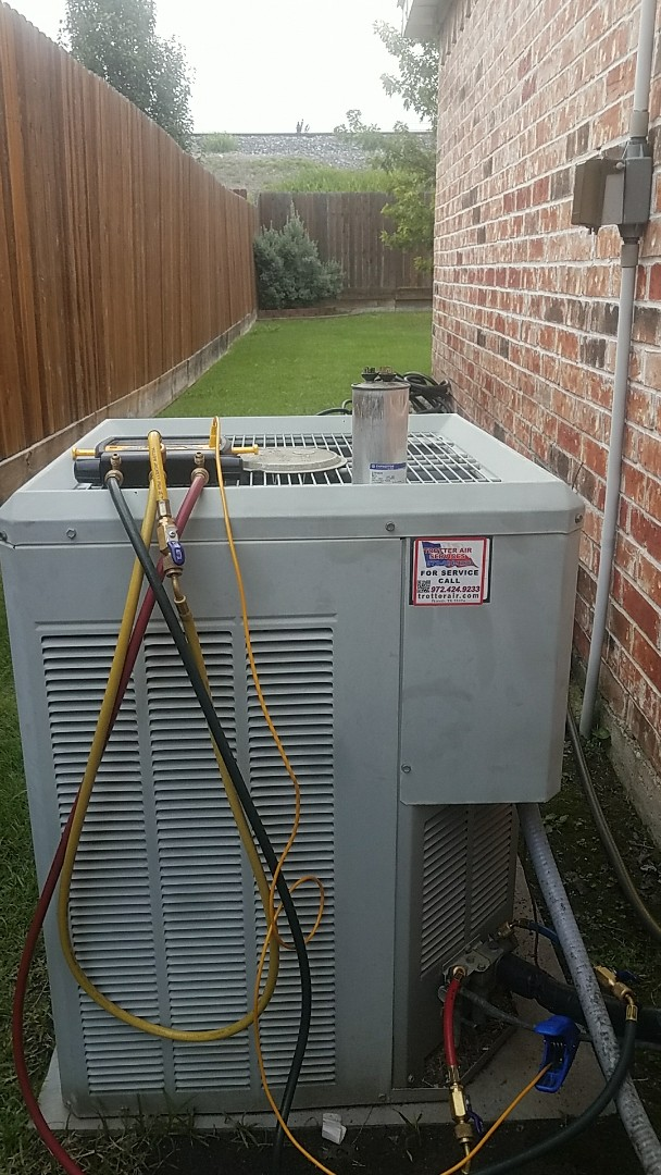 Richardson, TX - Repairing a Trane air conditioning system for our new customer in Richardson.