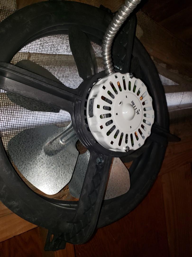 Replace attic fan