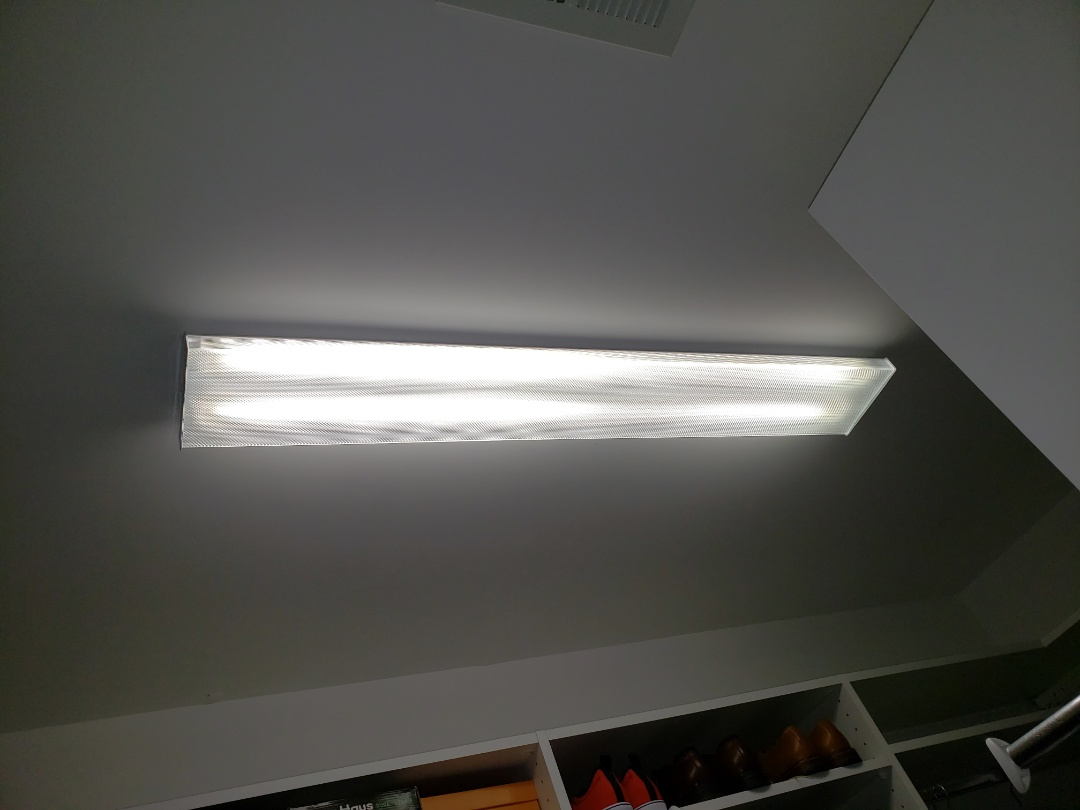 Fix light in master bedroom closet