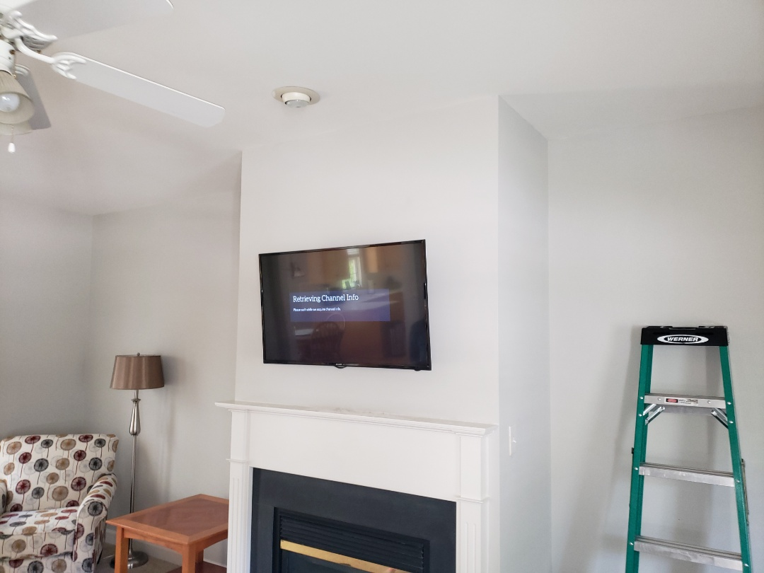 Mount TV above fireplace
