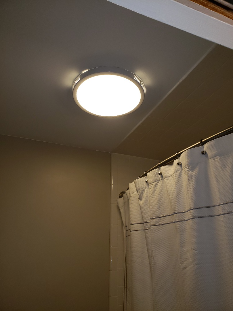 Install new bath light fan