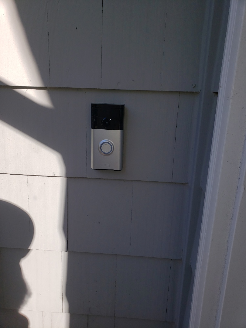 Install ring doorbell and chime. Mount TV on wall