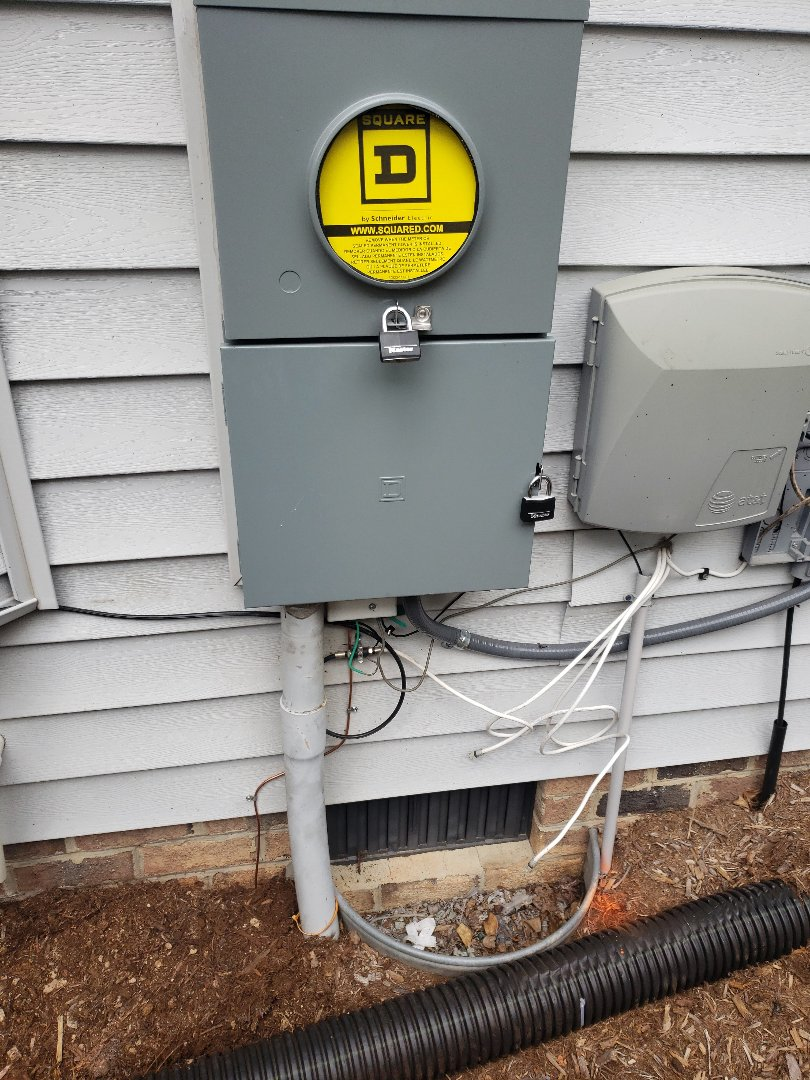 Replacing meter base