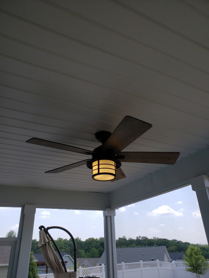 Install ceiling fan on screen porch