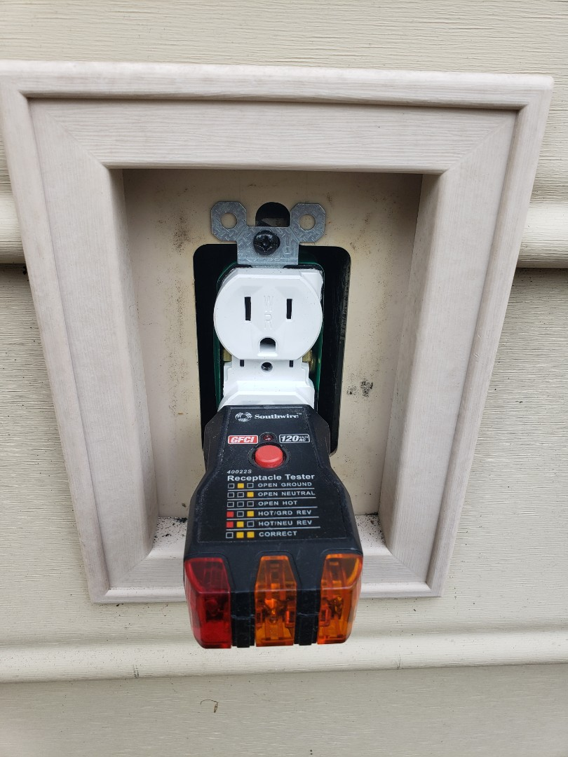 Replace outdoor outlets with new w/p outlets due to corrosion and rust