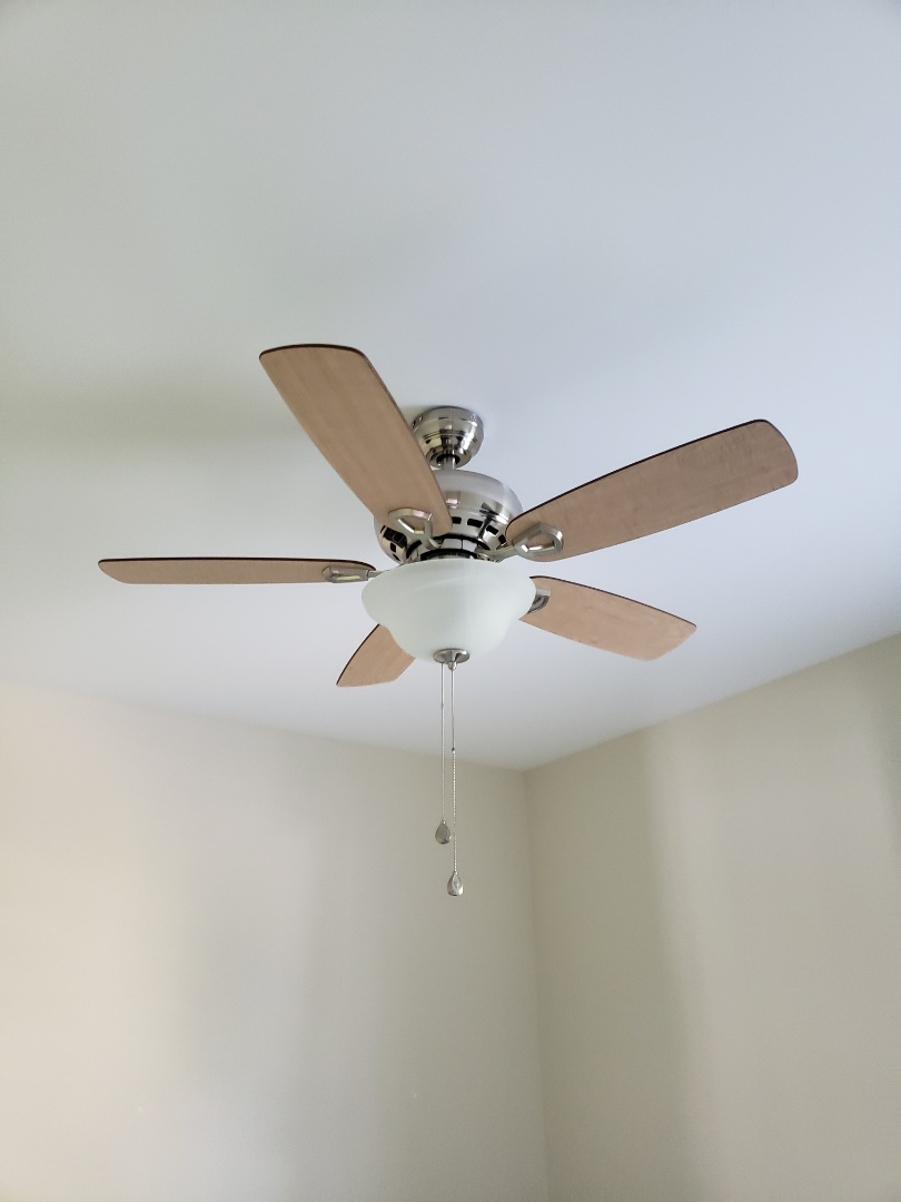 Prewire and install ceiling fan