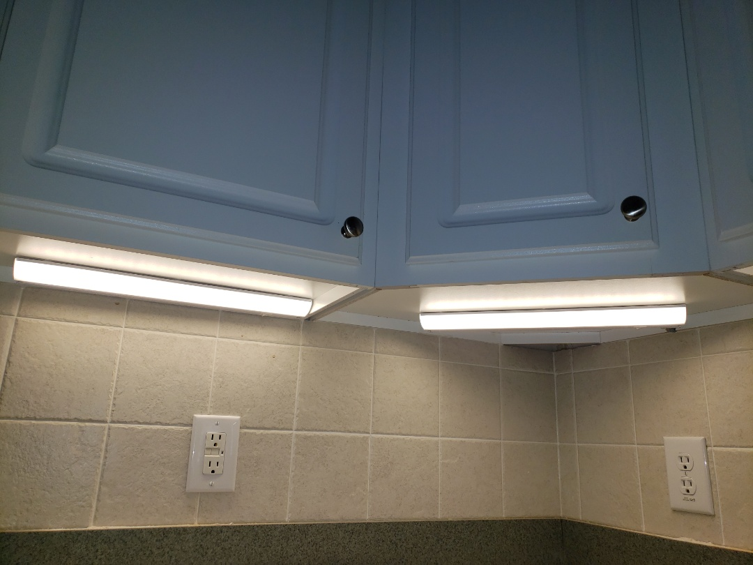 Install and prewire under cabinet lights