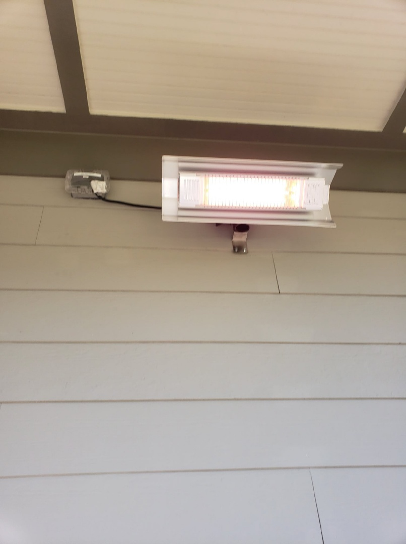 Install new circuit for back porch heater