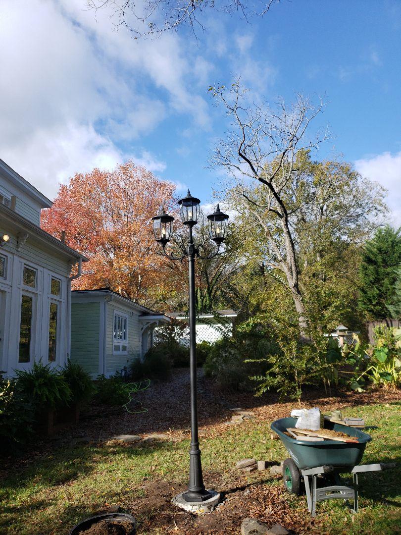 Installing post light